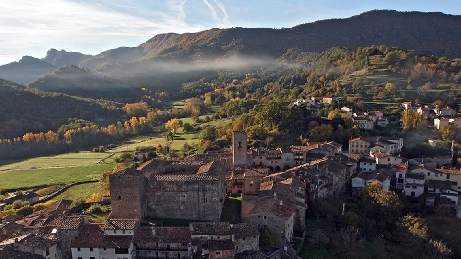Vista aèria de Santa Pau
