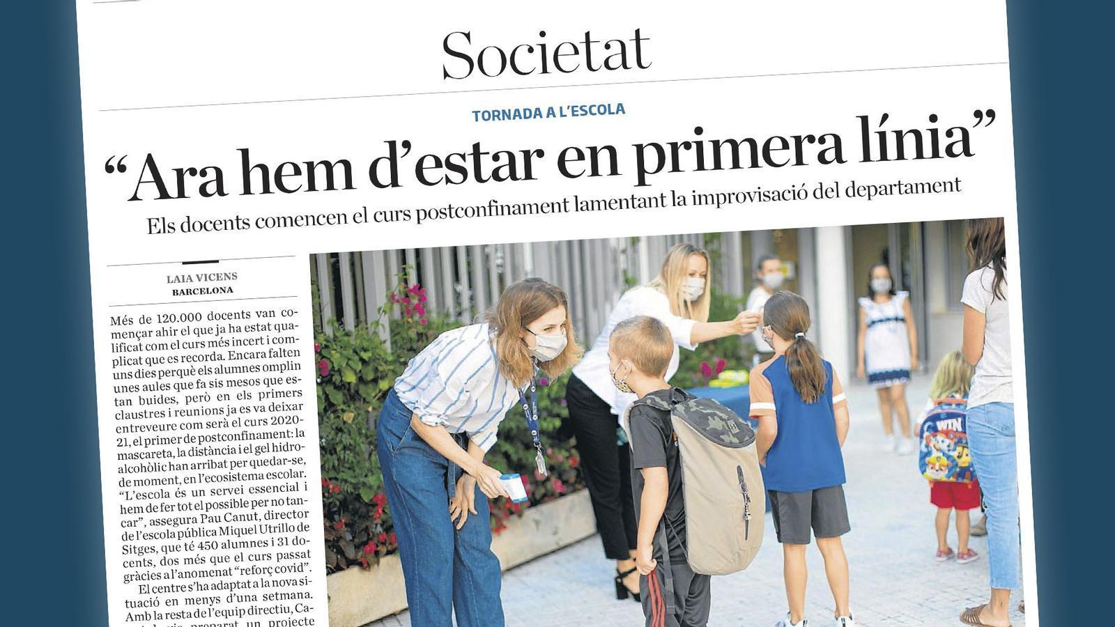 L'anàlisi d'Antoni Bassas: 'Al director d'escola que no pot dormir a les nits'