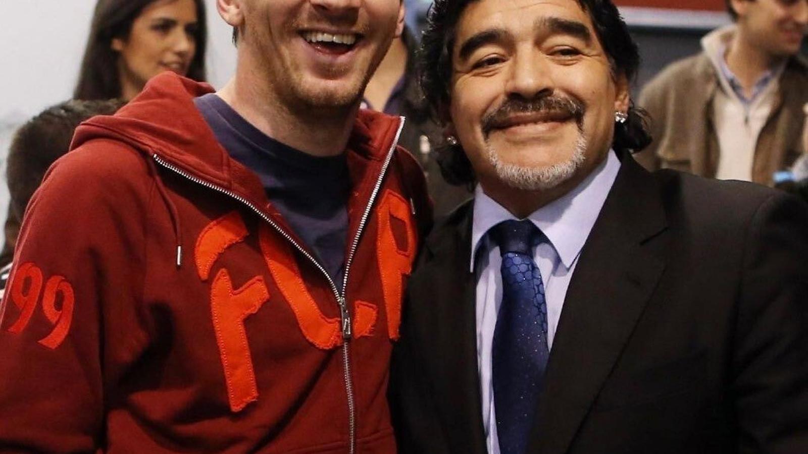 Leo Messi i Diego Armando Maradona