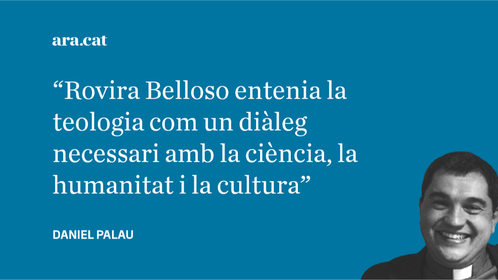 A Josep M. Rovira Belloso, amb tot l'afecte