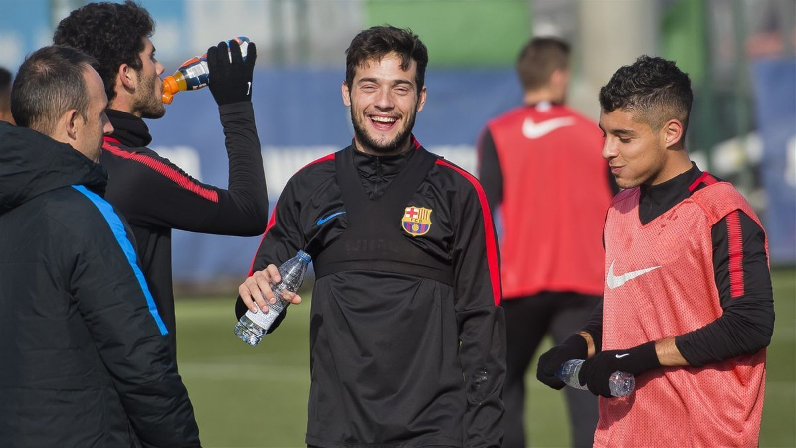Últim entrenament del Barça B