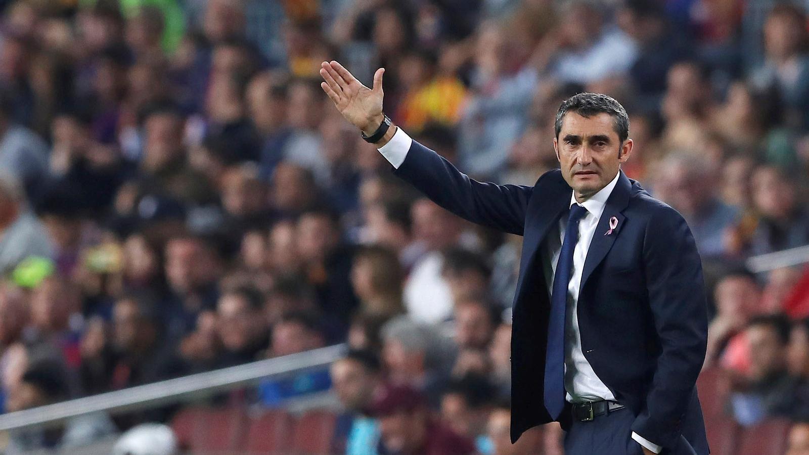 Ernesto Valverde en el partit contra el Sevilla