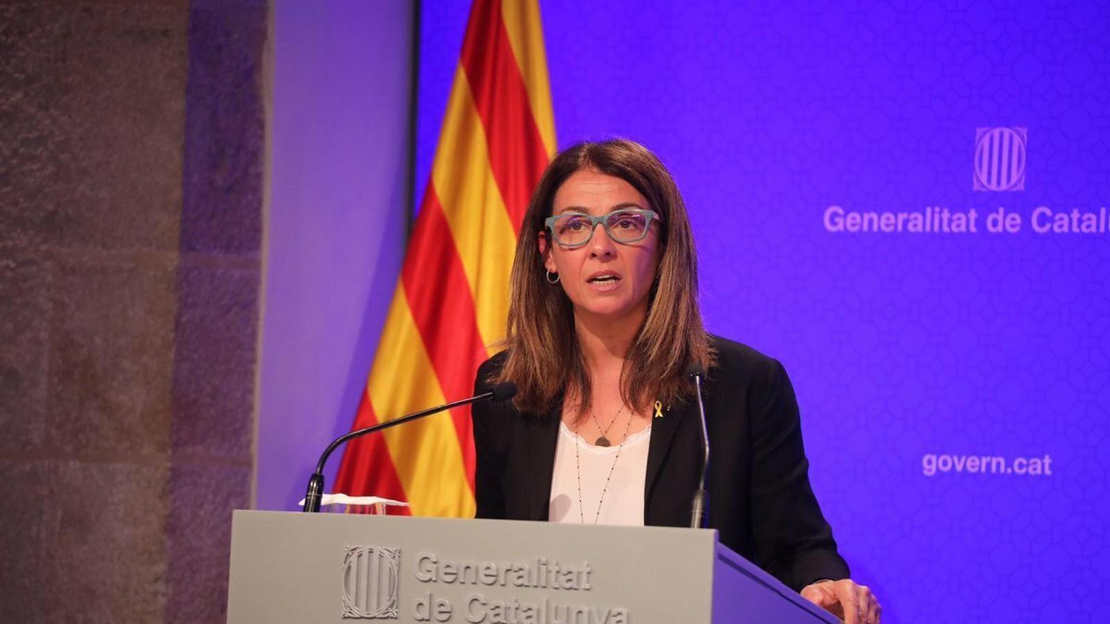 Roda de premsa per informar dels acords del Govern