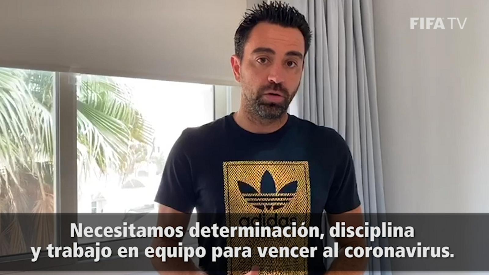 La campanya de la FIFA i la OMS contra el coronavirus, amb Messi, Xavi i Puyol