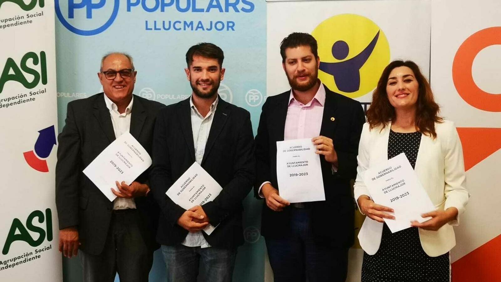 Presentació de l'acord de governabilitat de Llucmajor amb 4 partits.