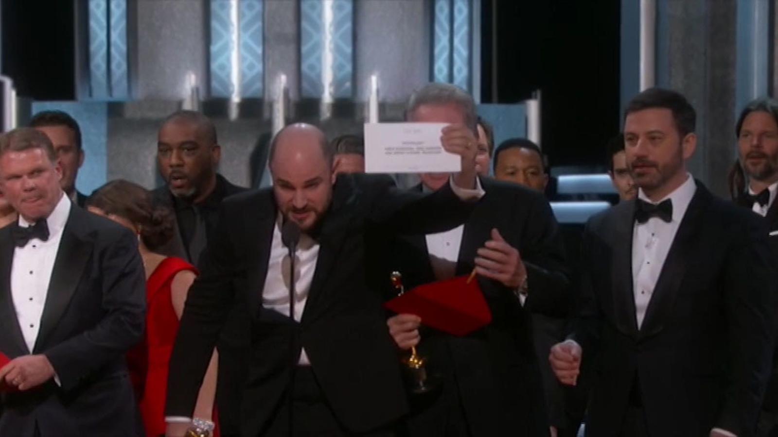 L'anunci de l'error de l'Oscar a la millor pel·lícula