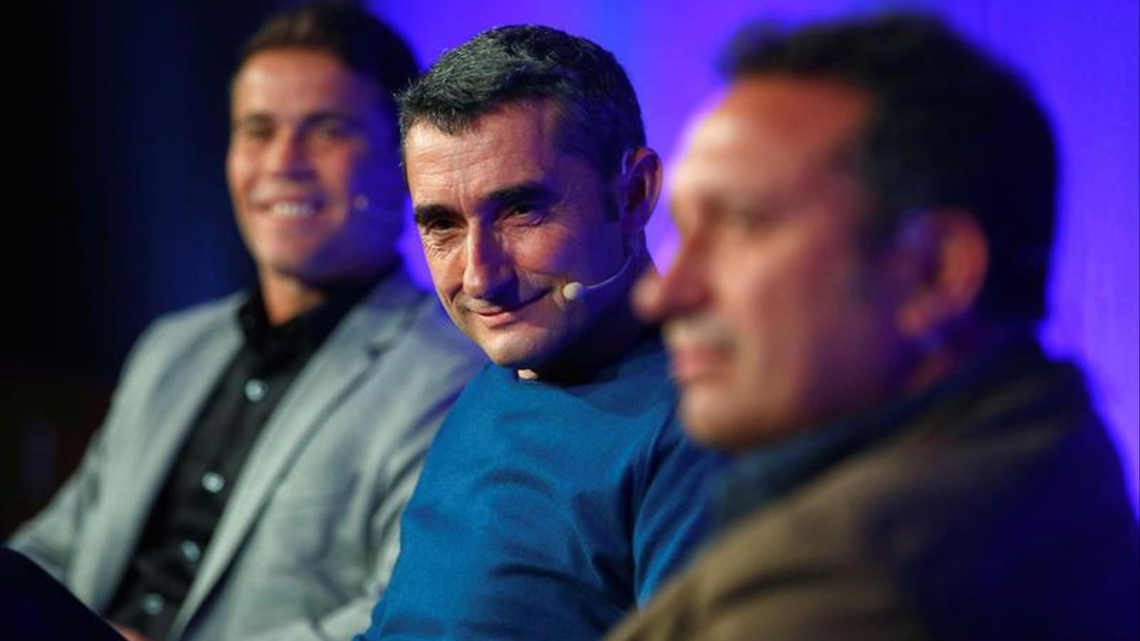 Rubi, Valverde i Eusebio, ponents a la conferència de record a Johan Cruyff