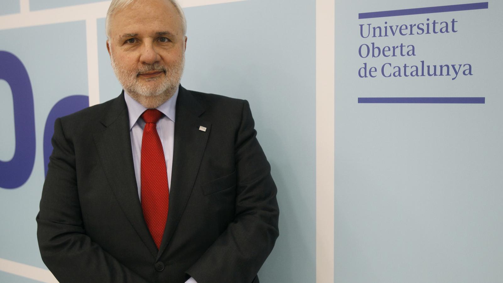 El rector de la UOC, Josep A. Planell
