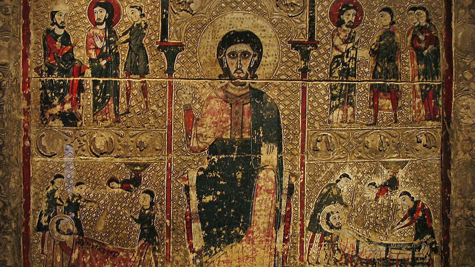 Una de les obres de la Franja en litigi amb l'Aragó exposada al Museu de Lleida / ACN