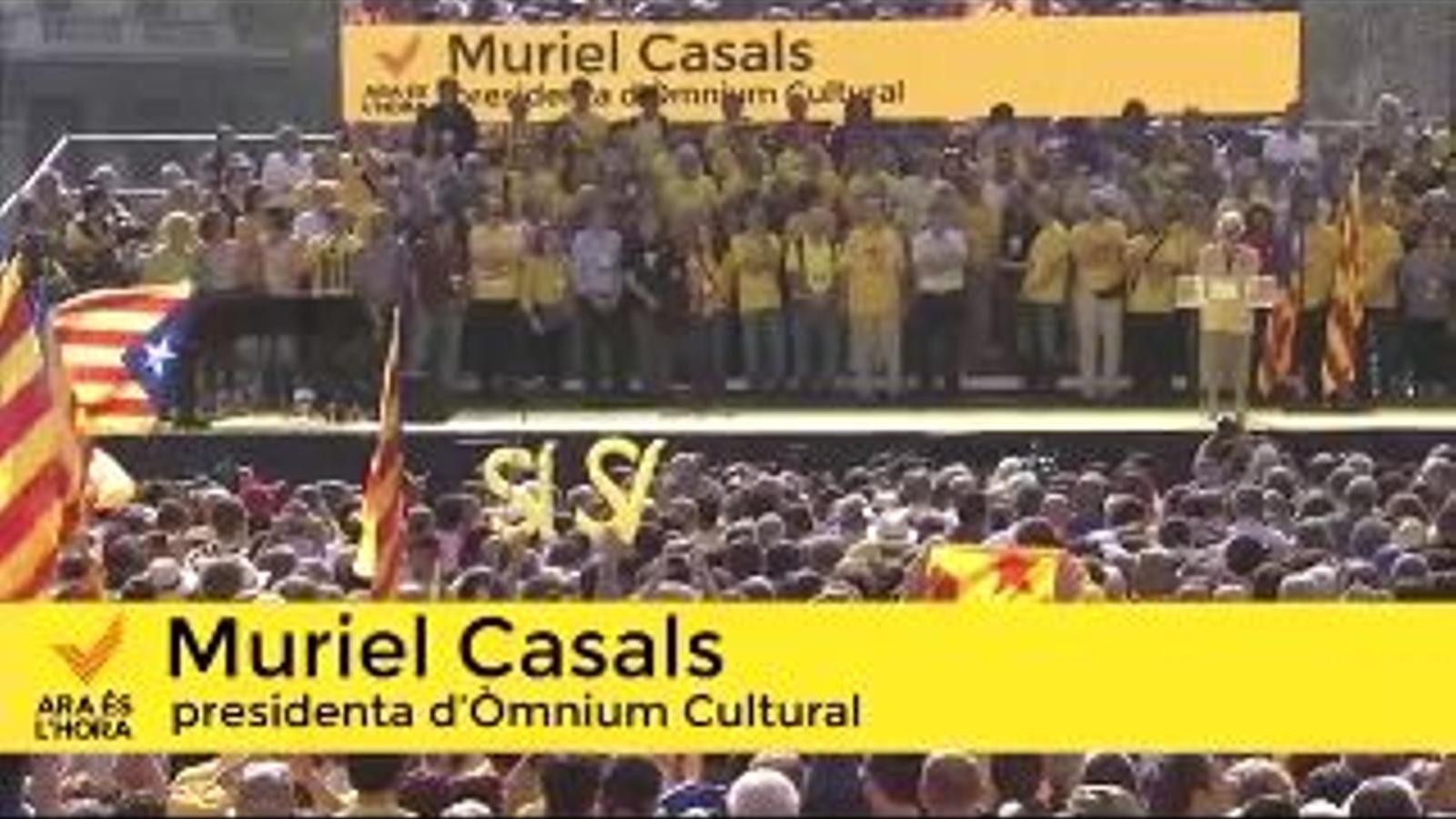Fem un pas endavant: Intervenció de Muriel Casals