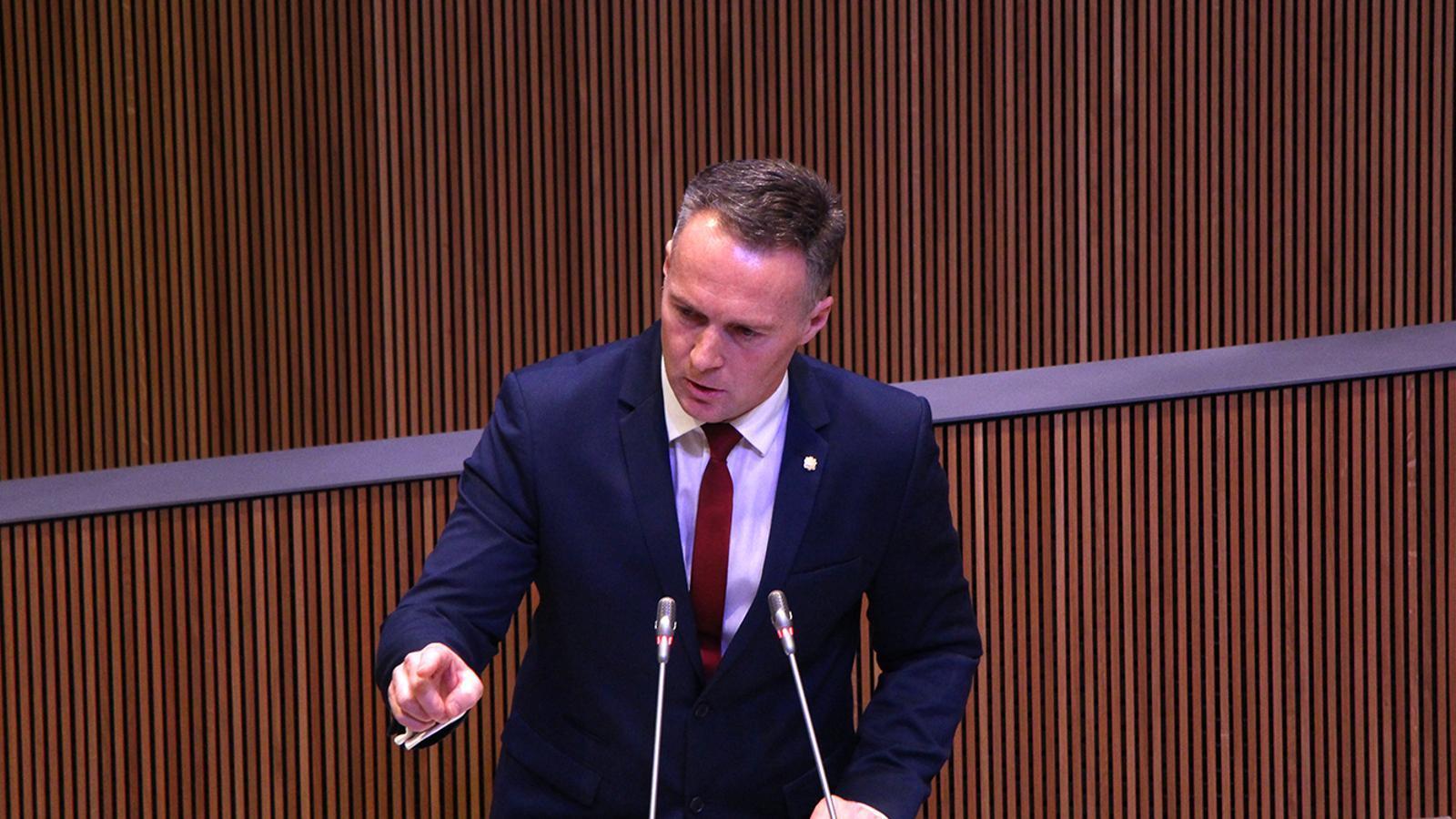 El president del grup parlamentari liberal, Ferran Costa. / C. A. (ANA)