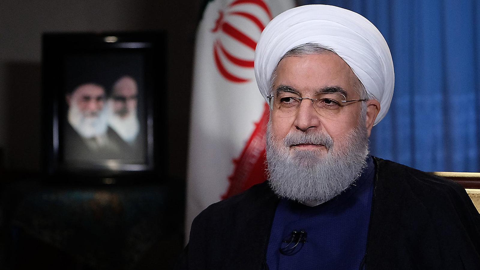 El president iranià, Hassan Rohani, durant l'entrevista que va concedir ahir a la televisió del país.
