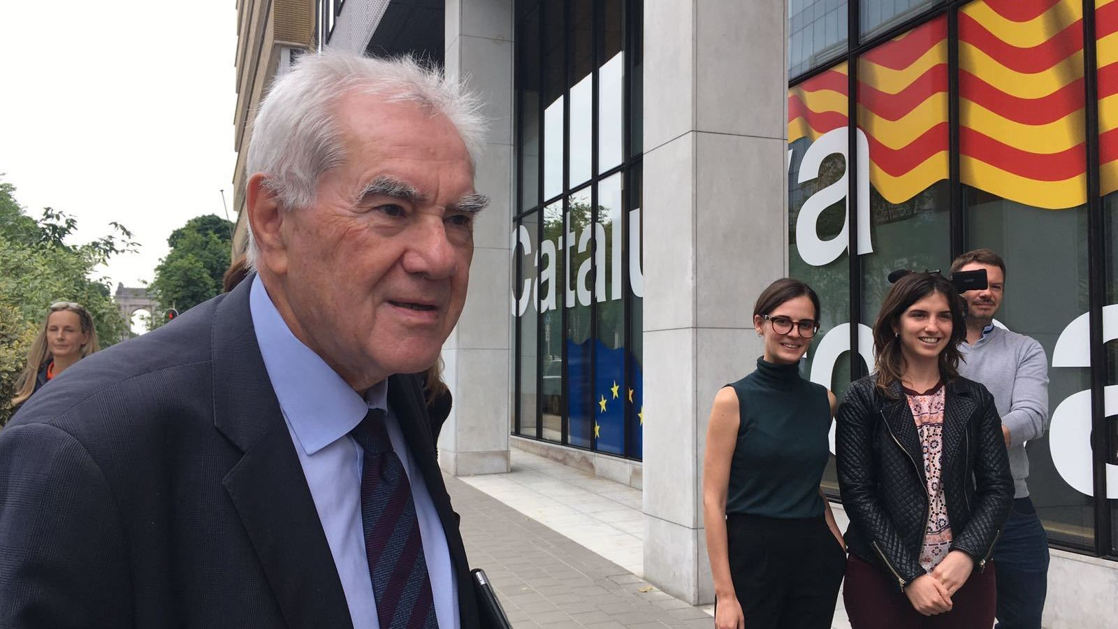 Ernest Maragall arriba a la delegació del Govern a Brussel·les