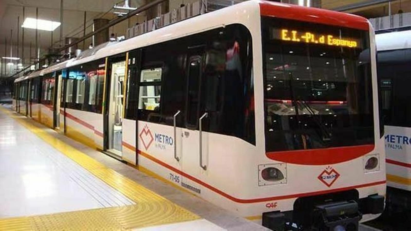 Imatge d'arxiu del metro de Palma