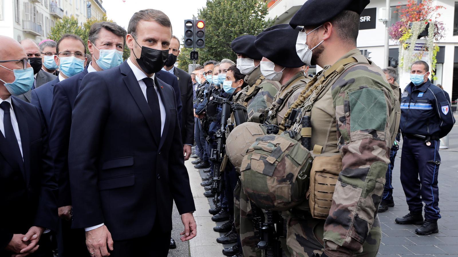 Emmanuel Macron aquest dijous a Niça.