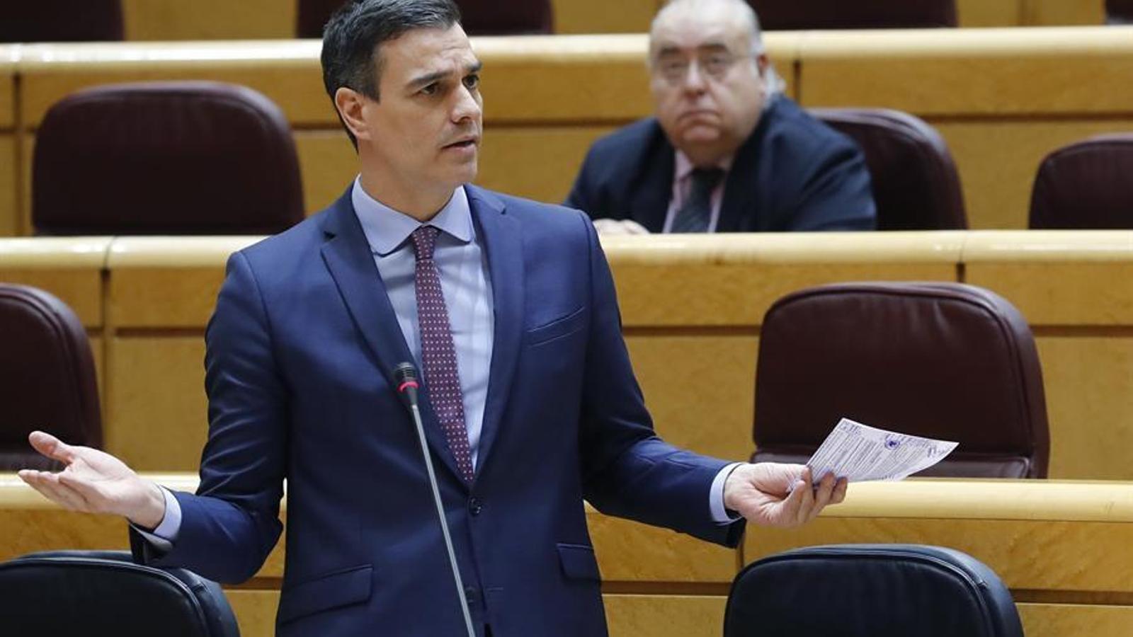 Sánchez pacta amb Cs el seu suport a la pròrroga de l'estat d'alarma