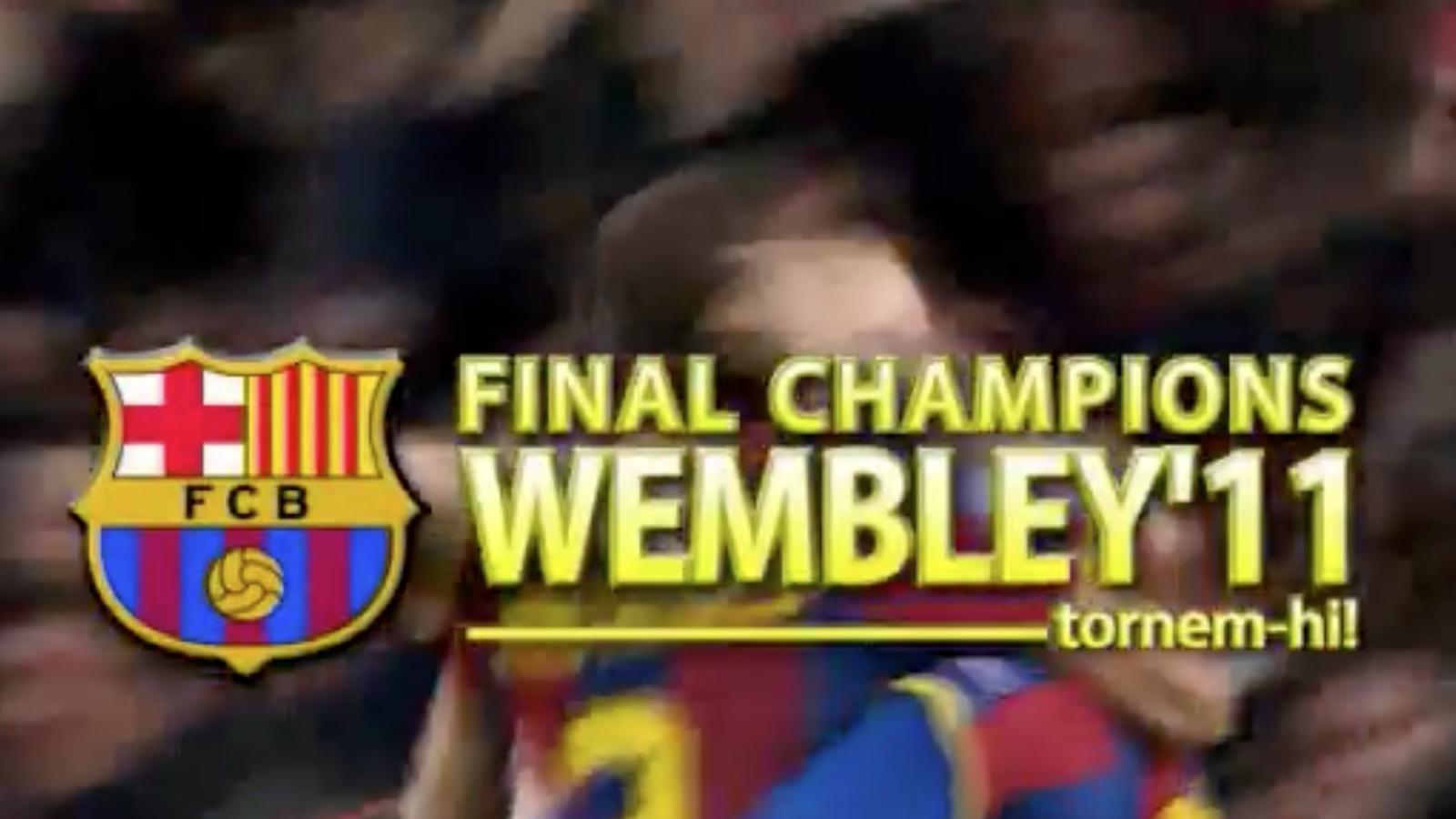 Vídeo del Barça per celebrar la classificació per a la final de Wembley.