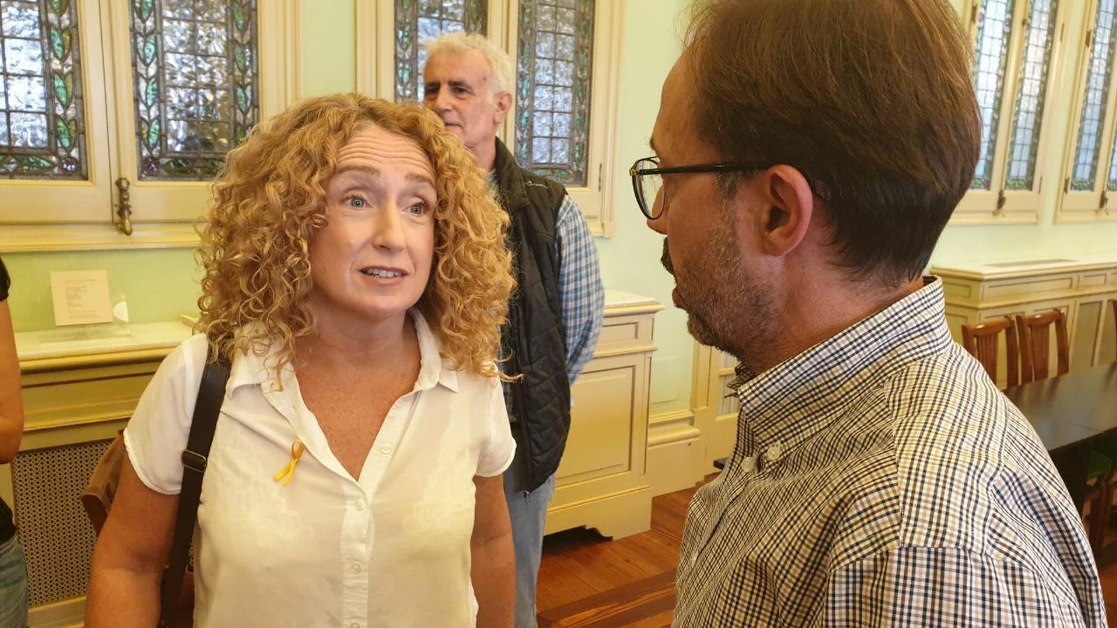 Paula Rotger i el diputat de Més per Menorca, Josep Castells