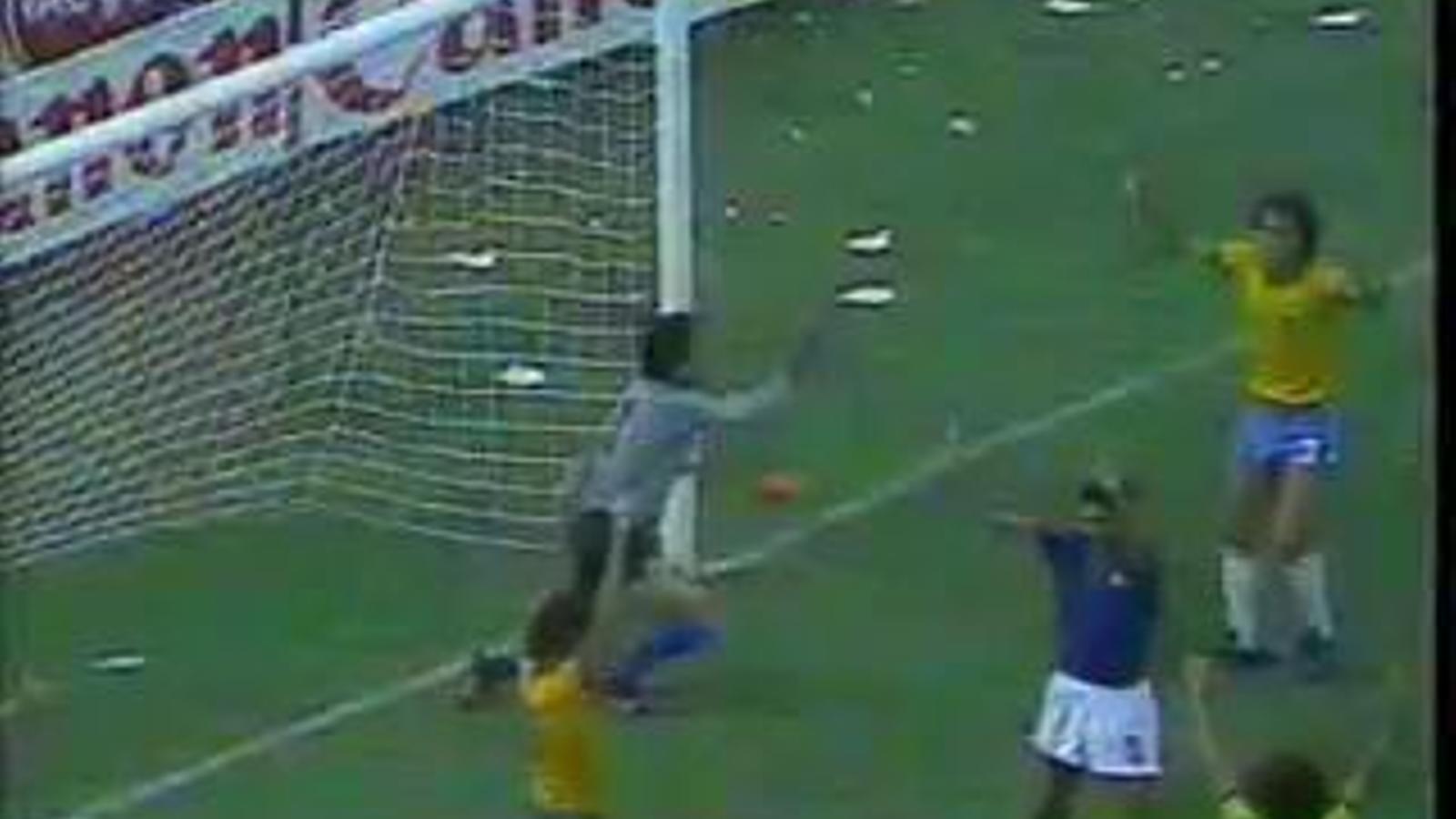 L'aturada de Dino Zoff contra Brasil durant el Mundial del 1982