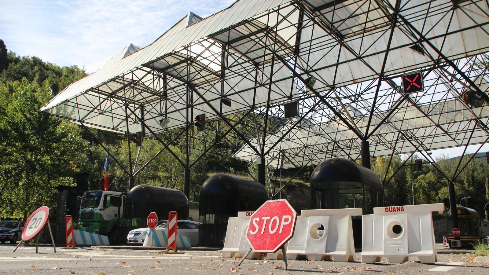 La frontera de la Farga de Moles. / JORDI DOMINGO
