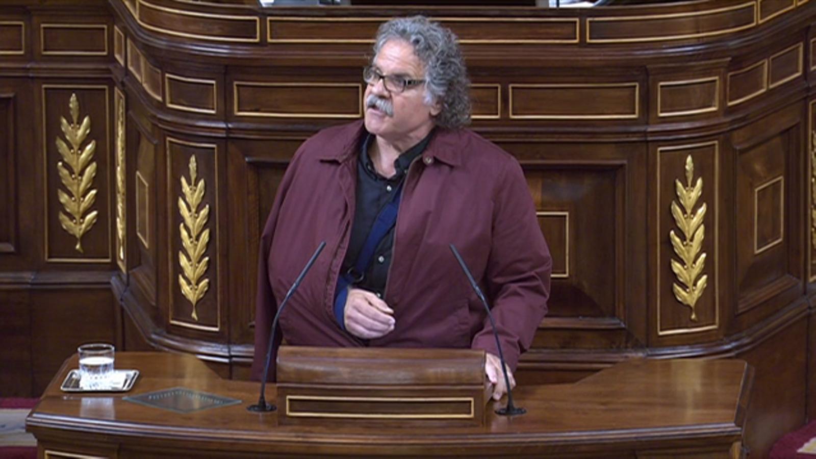 El portaveu d'ERC, Joan Tardà, demana llibertat pels detinguts per la Guàrdia Civil per l'1-O