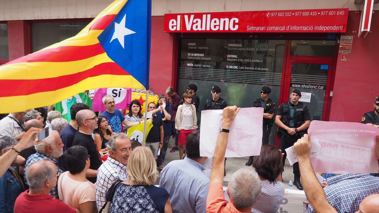 Del tancament de webs a la denúncia de manipulació a TVE: 110 restriccions de la llibertat d'expressió entorn de l'1-O