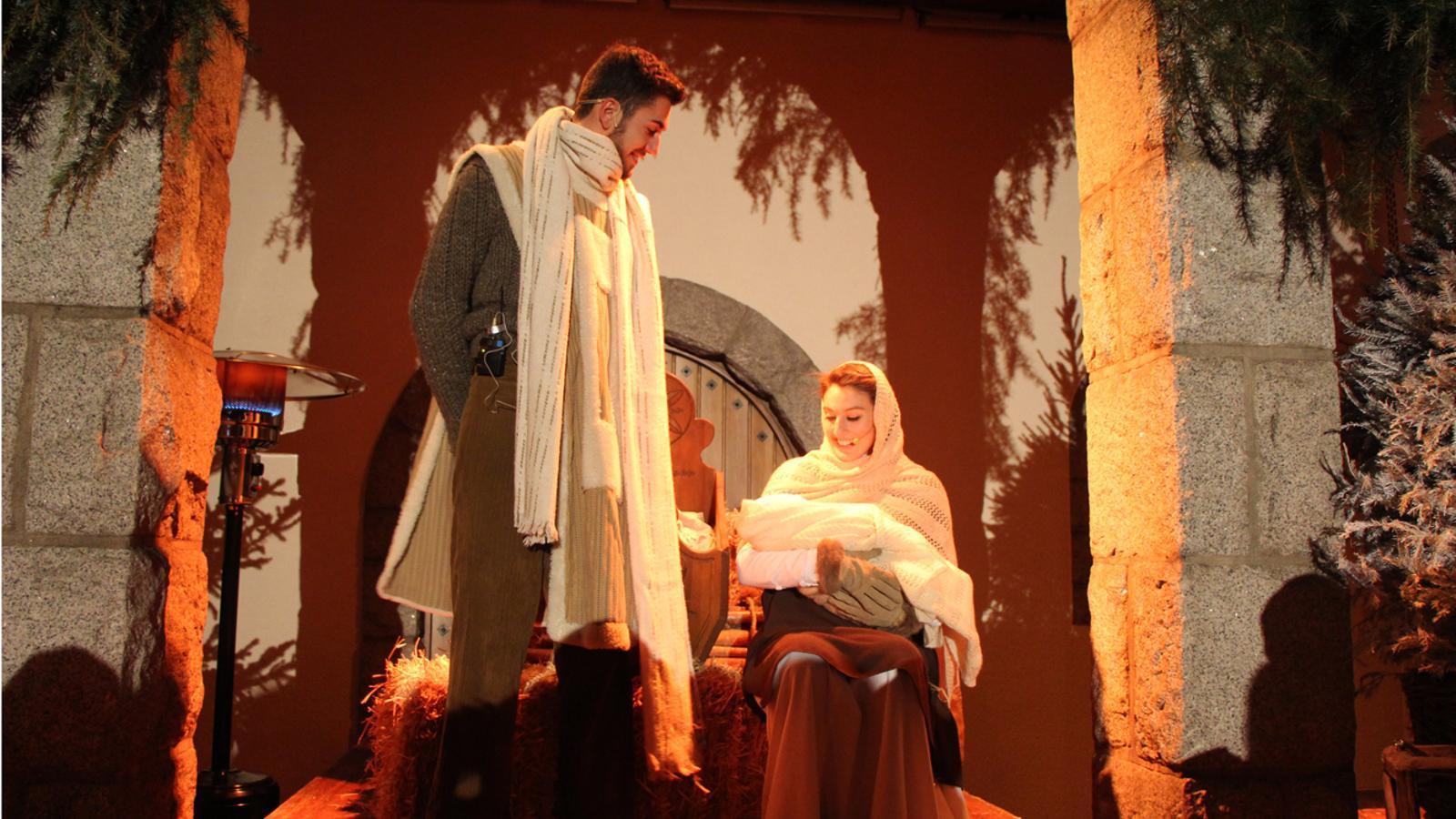Un moment de la representació del Pessebre Vivent d'Escaldes-Engordany. / L. M. (ANA)