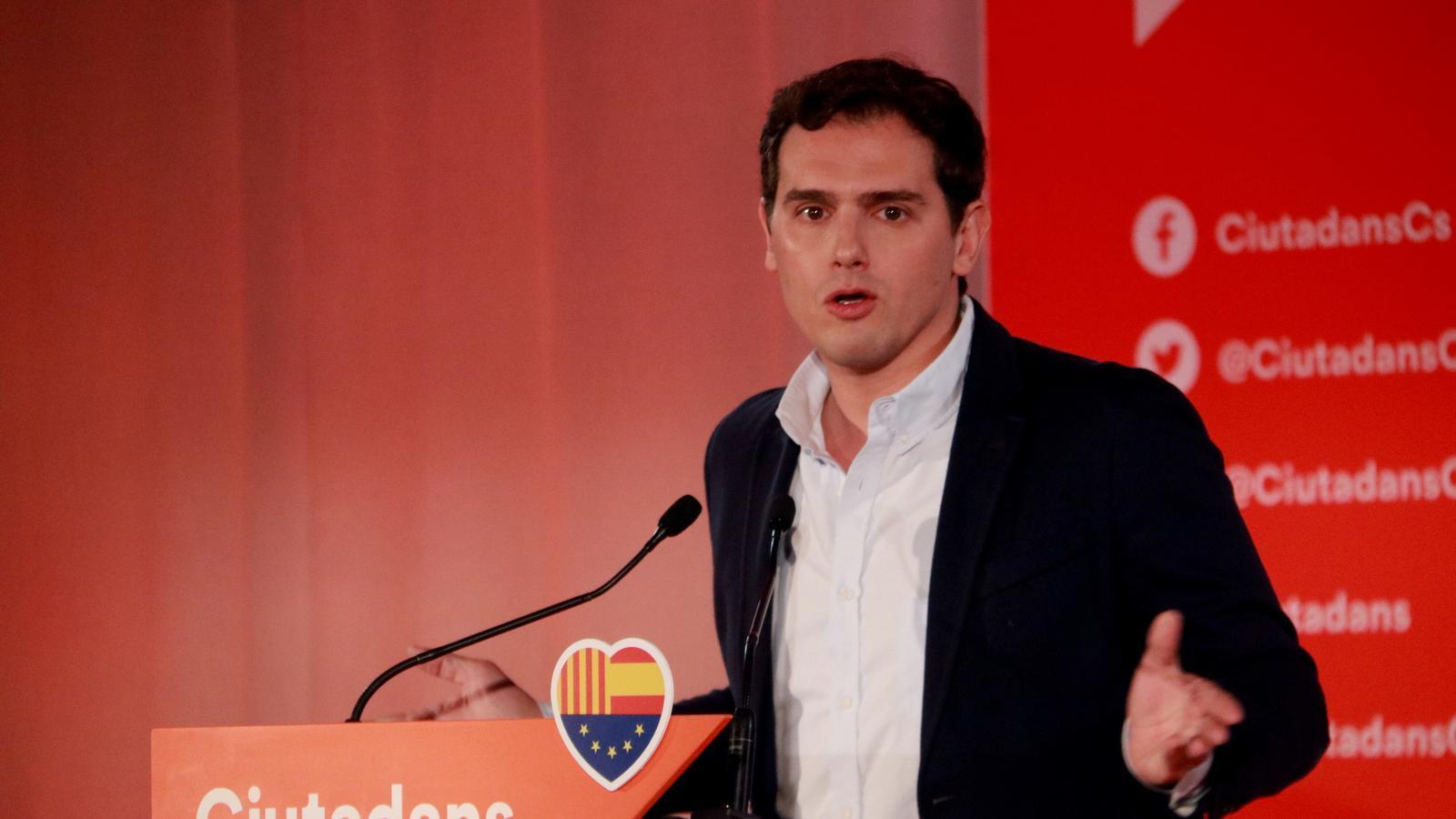 """Rivera acusa Sánchez de """"ser un aliat del secessionisme"""""""