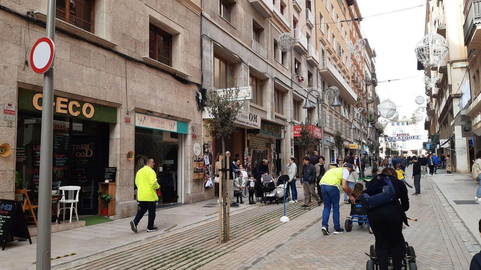 El carrer Velázquez de Palma ja és peatonal