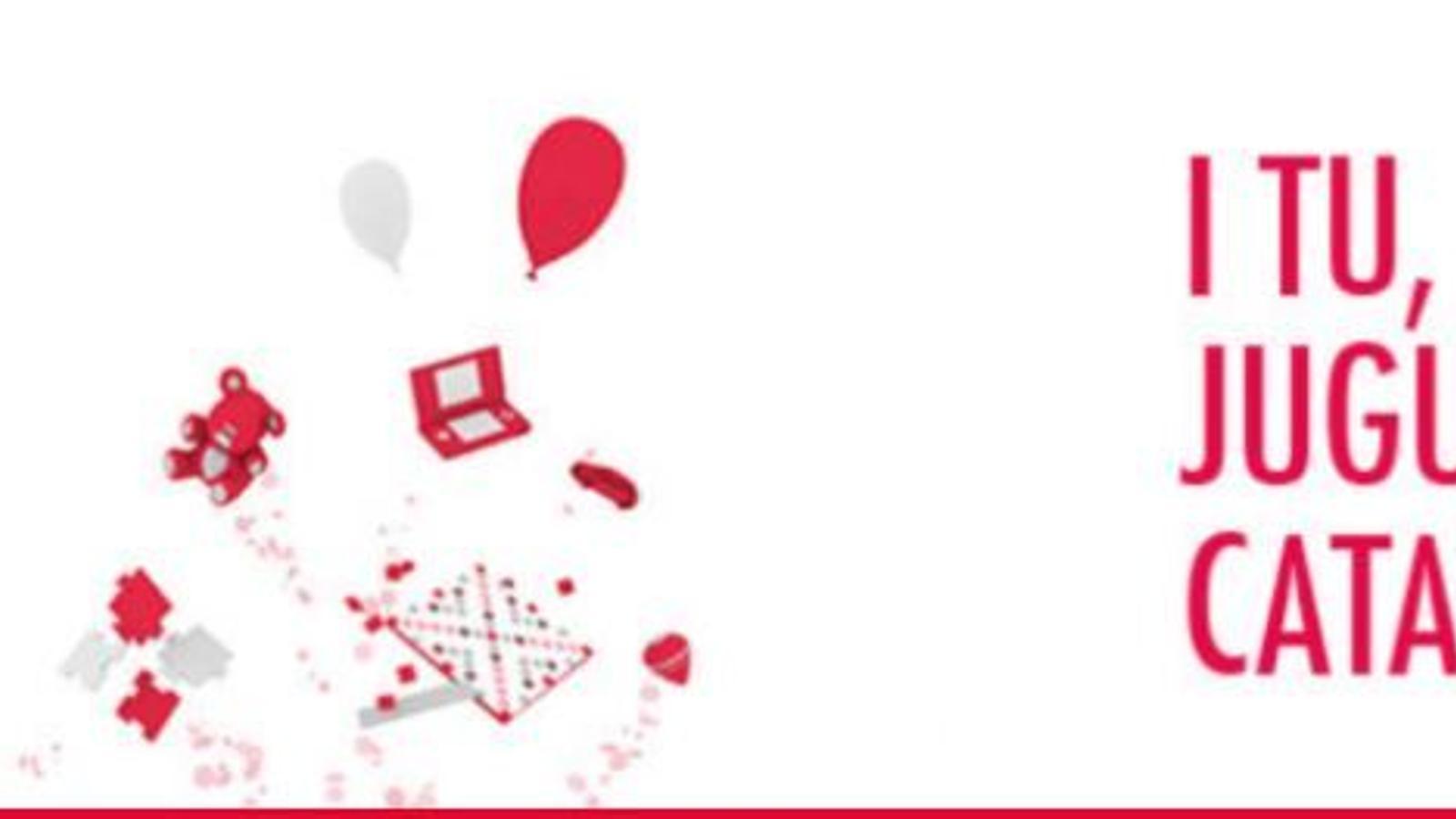 Logotip de la campanya 'I tu, jugues en català?'
