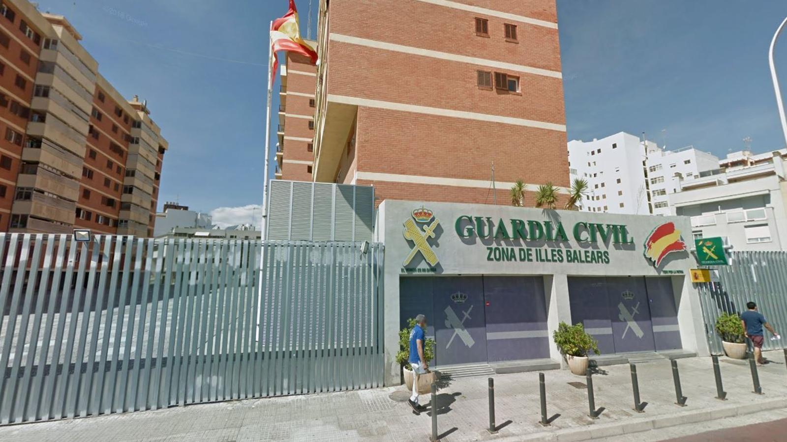 Imatge de la Comandància de la Guàrdia Civil de Palma.