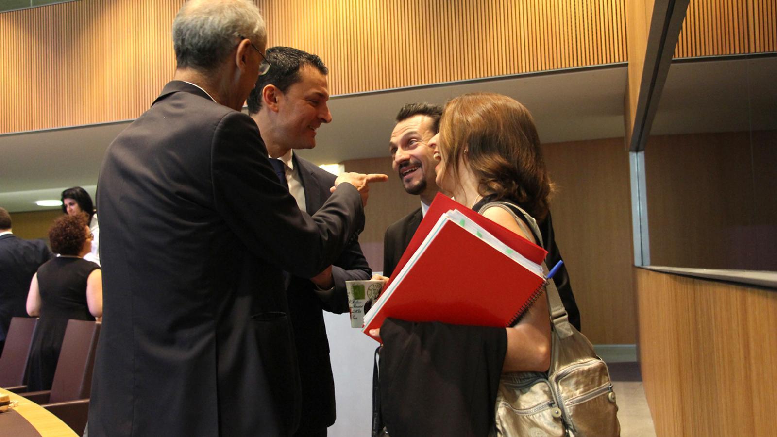 Toni Martí felicita liberals i socialdemòcrates per l'acord assolit. / M. T. (ANA)