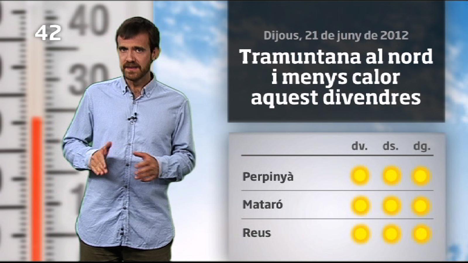 La méteo en 1 minut: tramuntana i menys calor (22/06/2012)