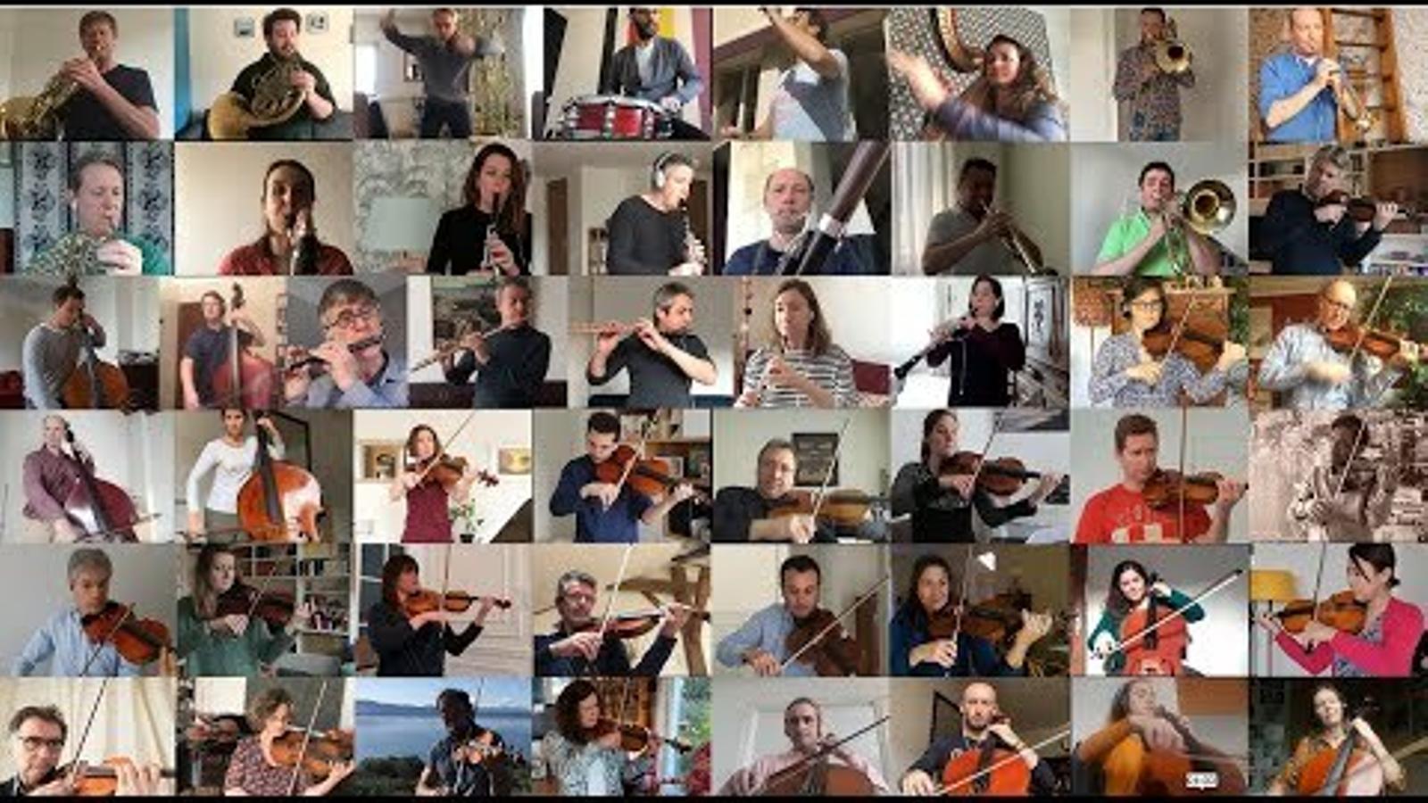 El confinament no ha impedit que els músics de l'Orquestra Nacional de França toquin plegats el 'Bolero' de Ravel