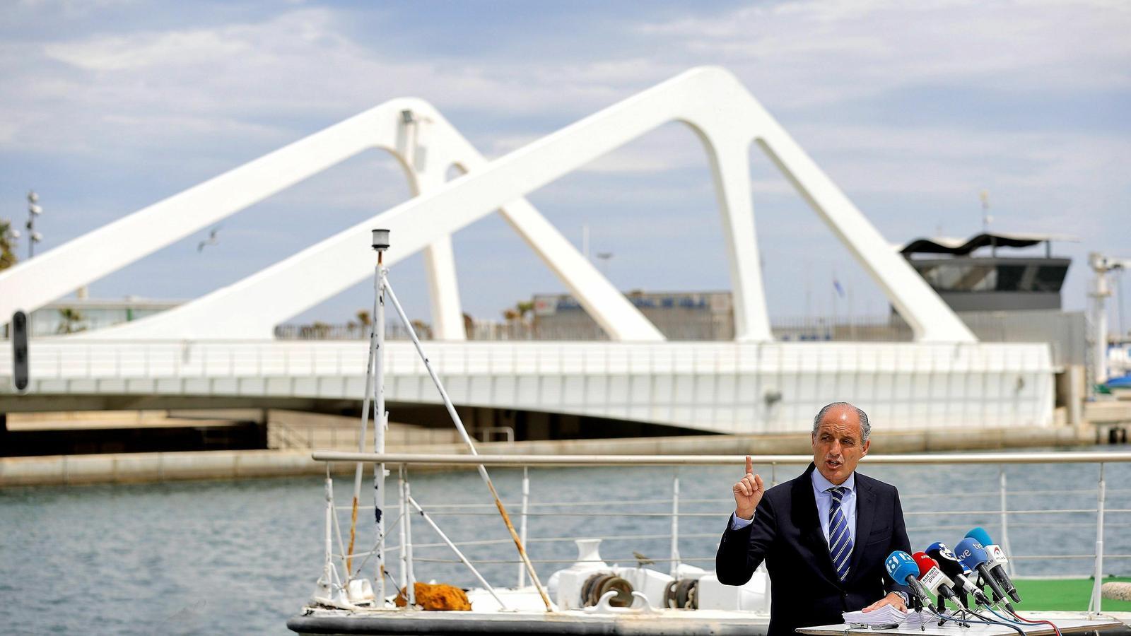 La Fiscalia demana l'arxivament de la causa que investiga Camps per la construcció del circuit de F1 de València
