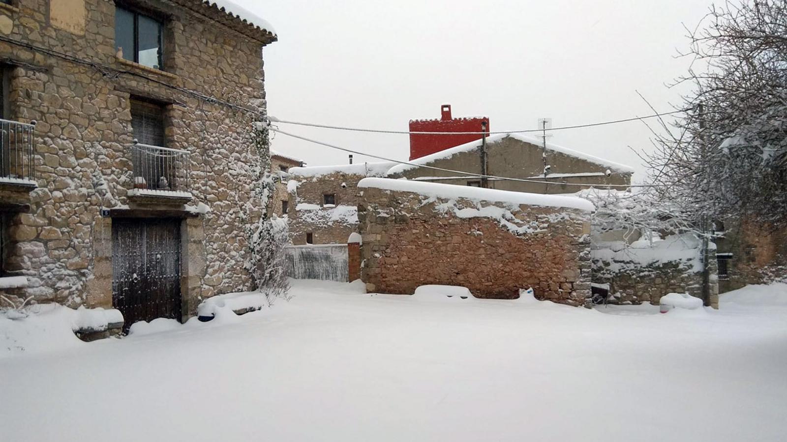 La nevada deixa gruixos acumulats de més de mig metre al sud