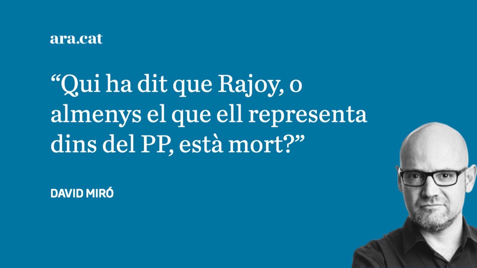 Mariano Rajoy parla a través de 'La Razón'