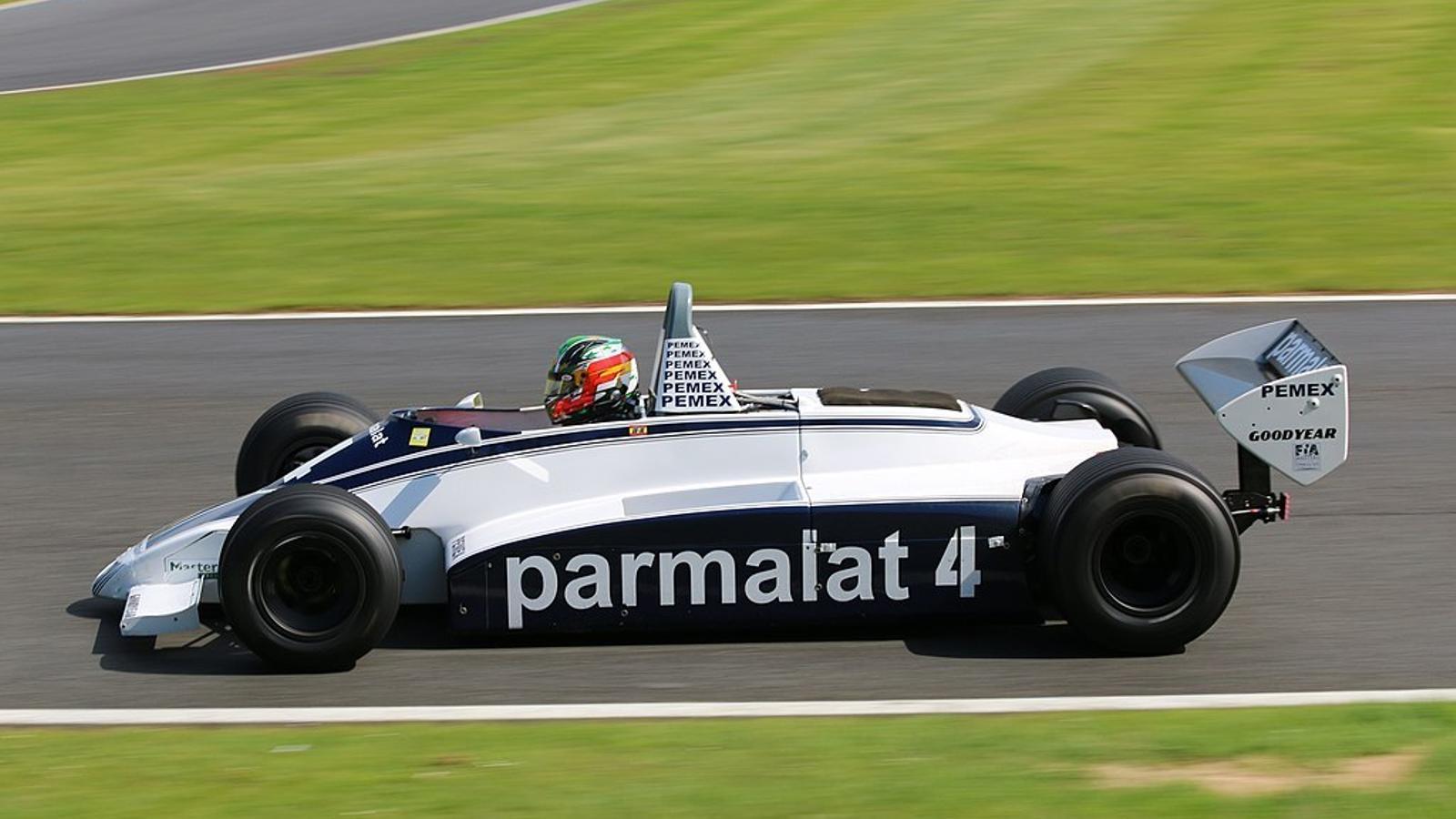 Joaquín Folch-Rusiñol, al volant del Brabham BT49 amb el qual va guanyar el campionat del món de Fórmula 1 històrica.