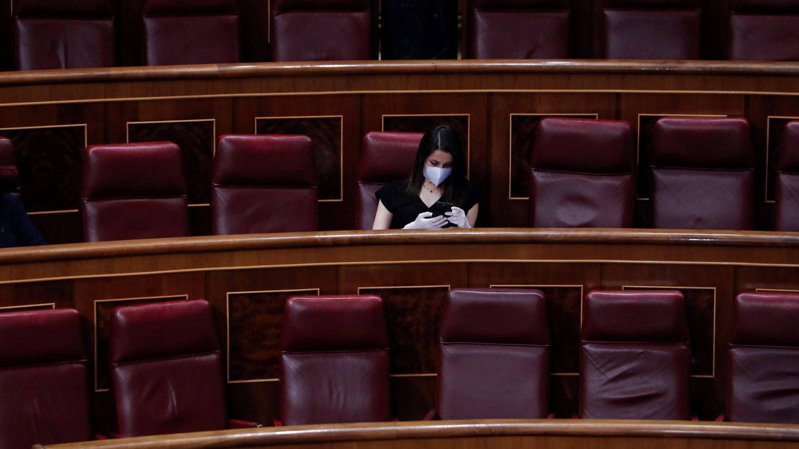 La líder de Cs, Inés Arrimadas, aquest dimecres al ple del Congrés
