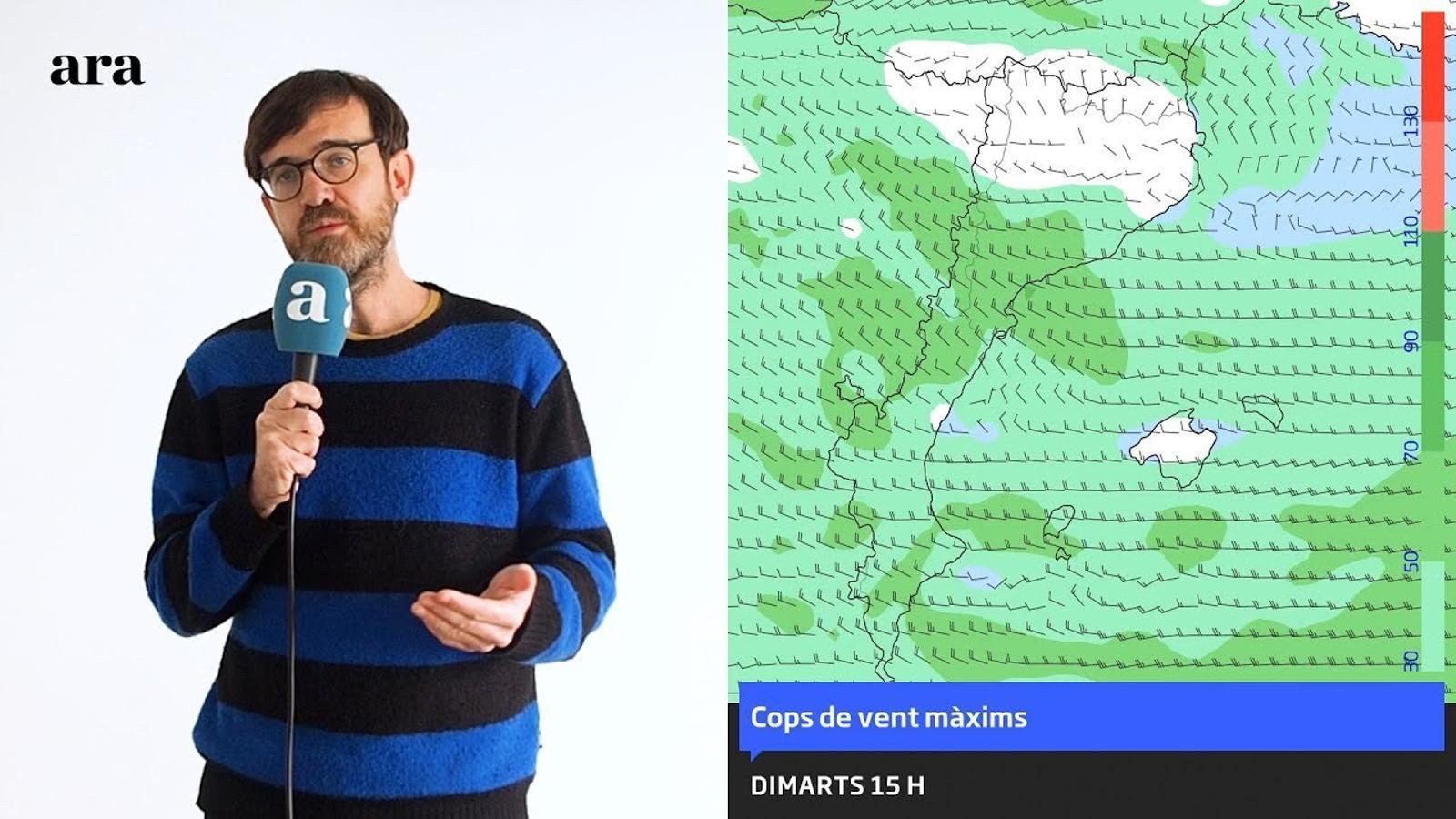 La méteo: fort vent per començar una setmana sencera de fred intens