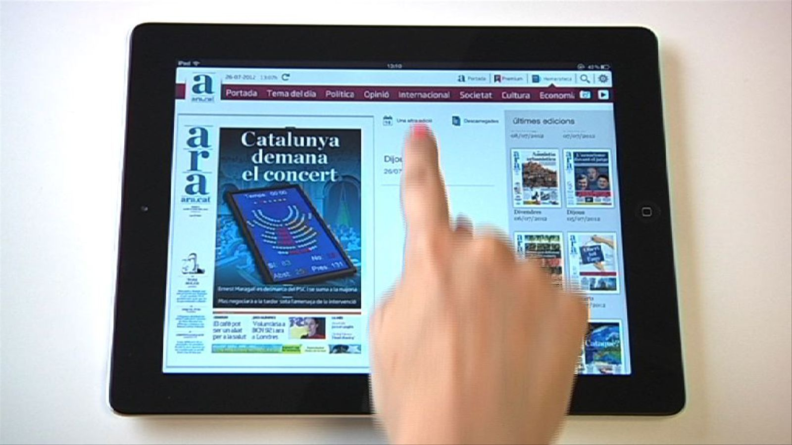 Com funciona la nova 'app' de l'ARA per a iPad?