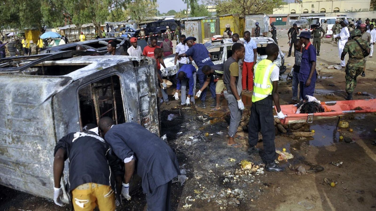 Atemptat suïcida a l'estació d'autobusos de Kano. REUTERS