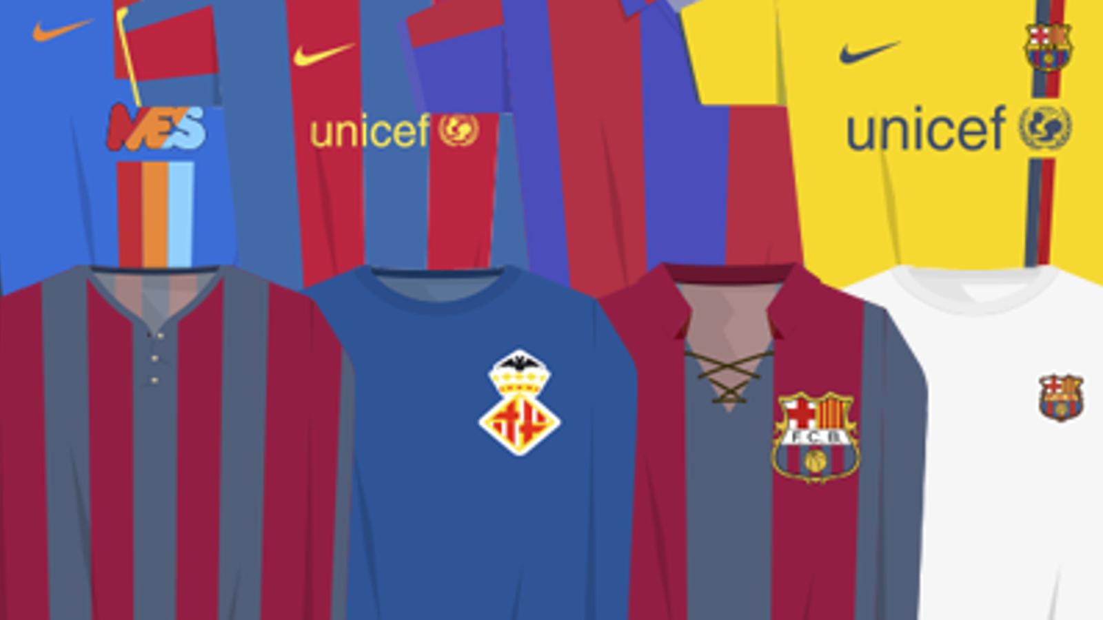 ESPECIAL: Totes les equipacions de la història del Barça