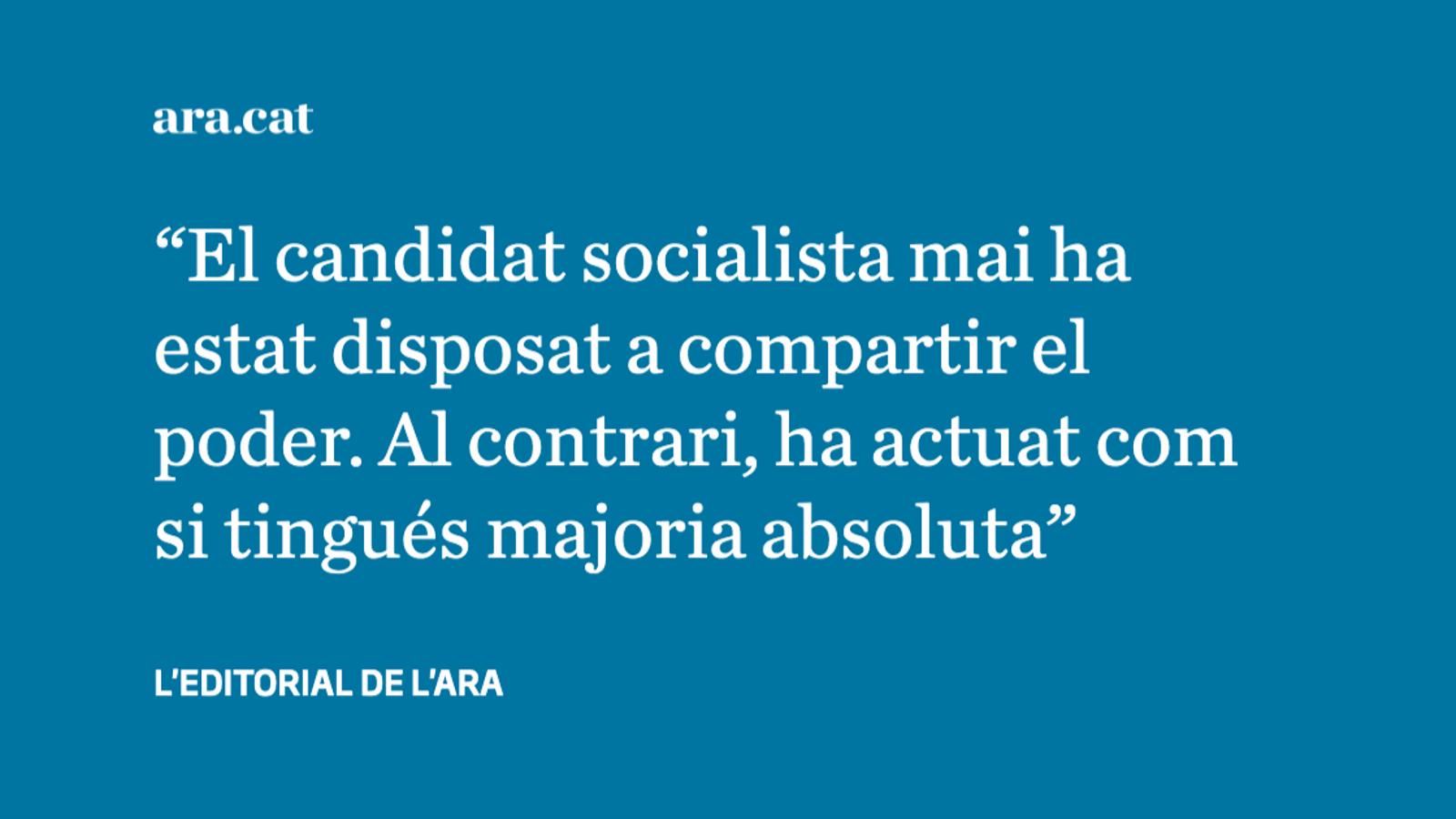 El fracàs de Pedro Sánchez