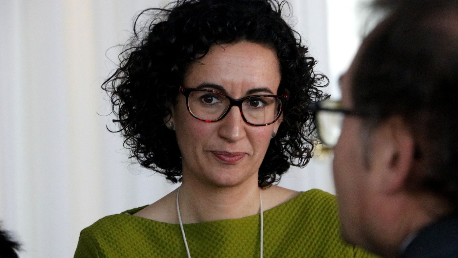 Marta Rovira, durant l'esmorzar informatiu Pimera Plana