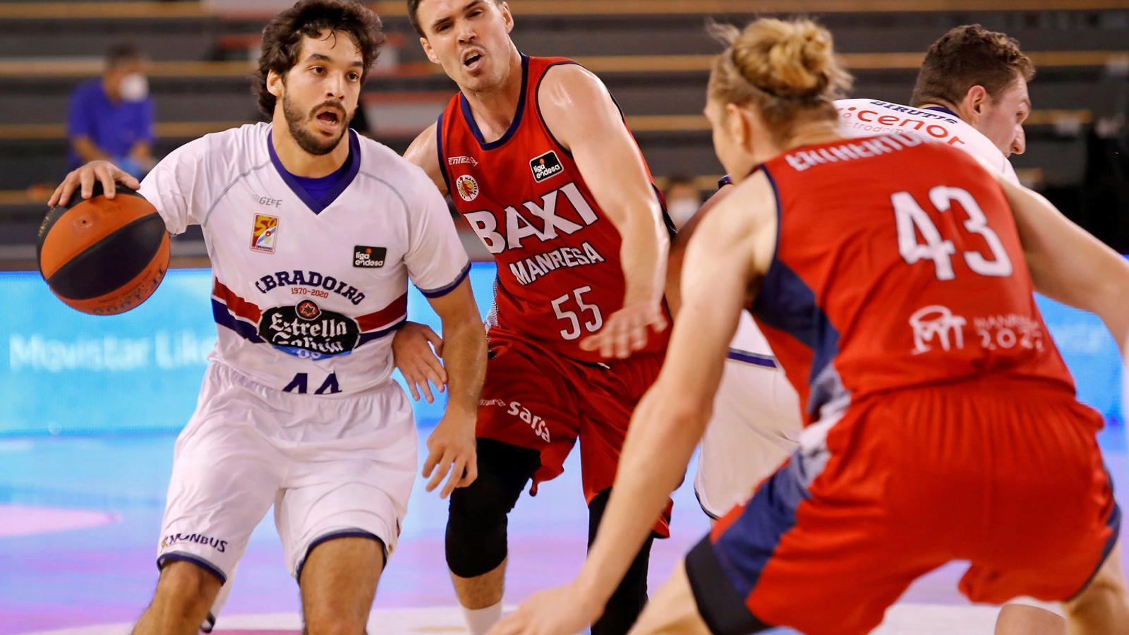 Pepe Pozas i Dani Pérez durant el partit.