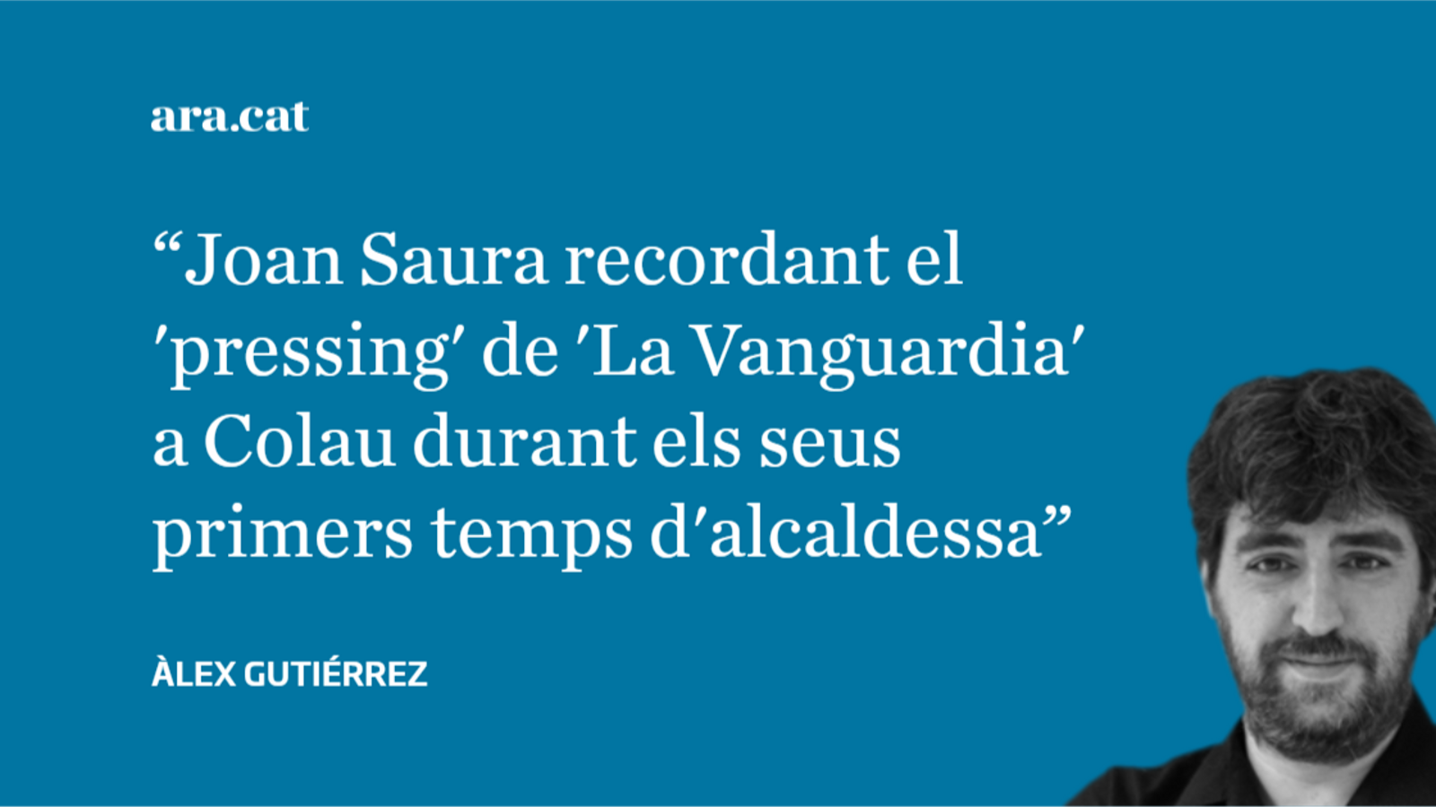 Joan Saura llegeix els titulars sobre la inseguretat a Barcelona