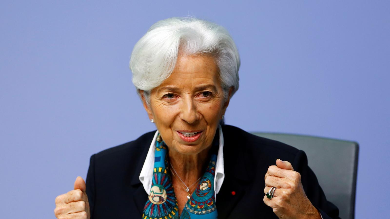 Christine Lagarde, en la seva primera roda de premsa com a presidenta del BCE.