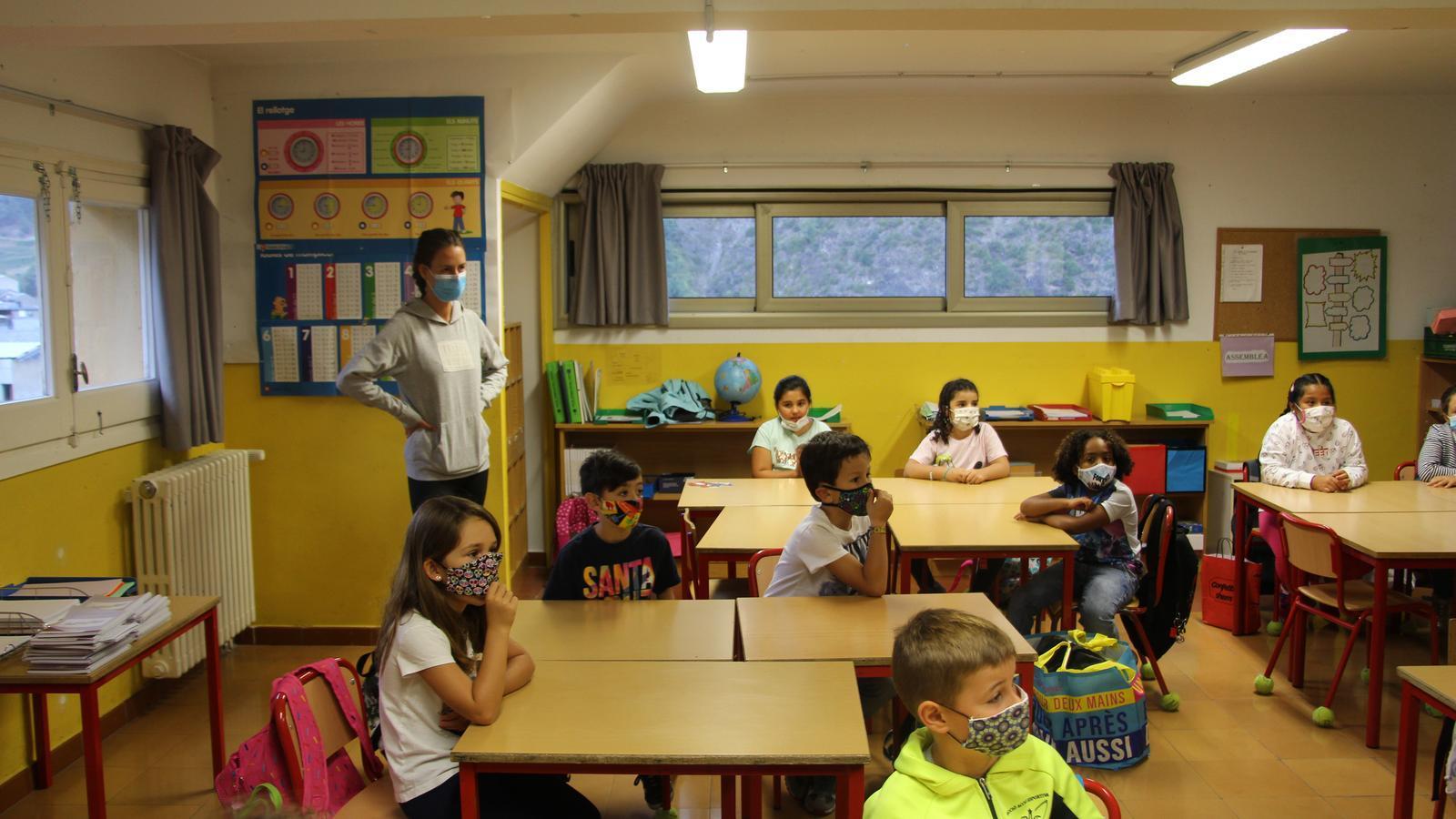 Una classe de l'escola andorrana de Sant Julià de Lòria. / ANA
