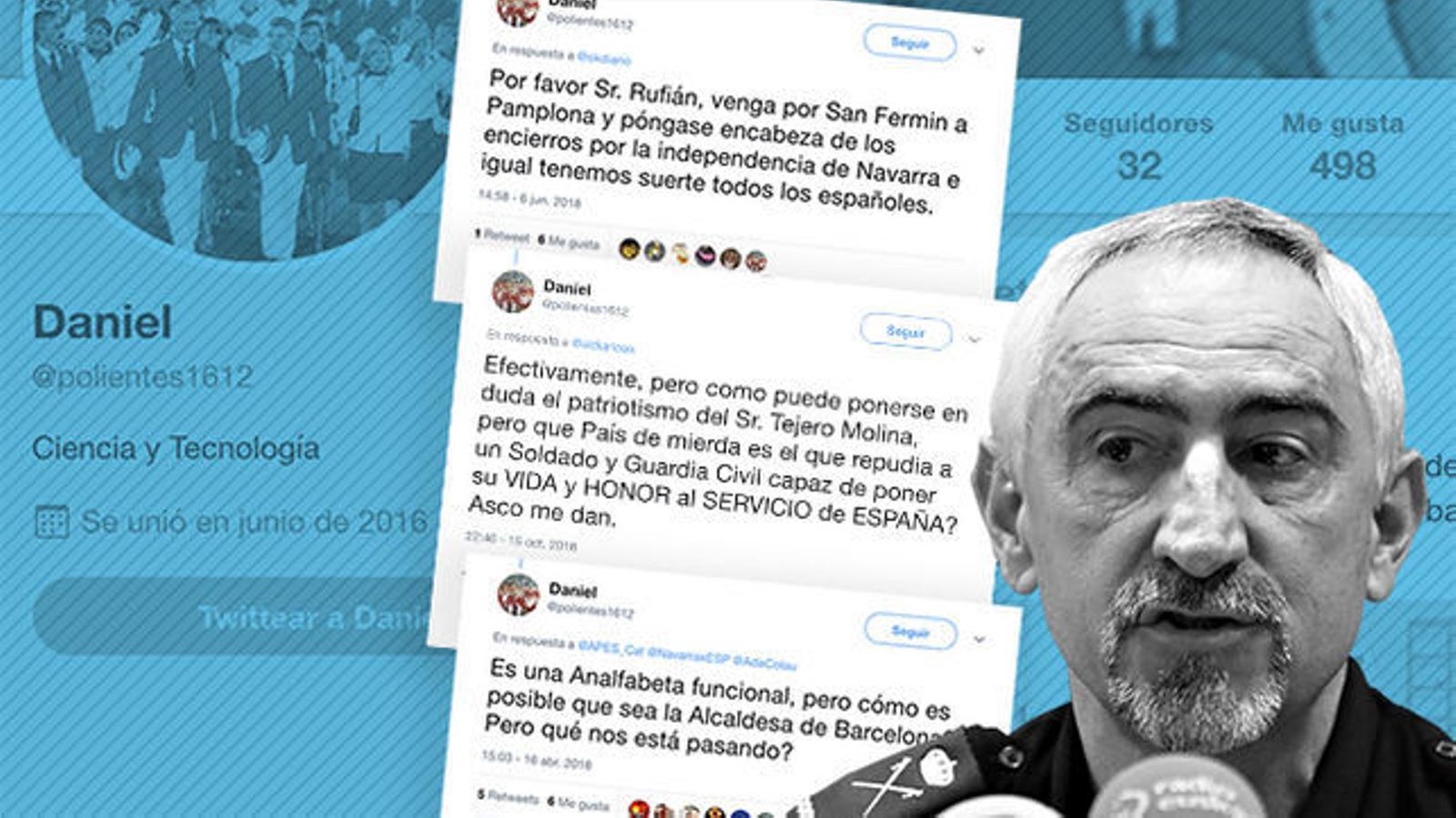 El cap de la Policia Nacional de Navarra insulta polítics d'esquerres i nacionalistes amb un compte secret de Twitter